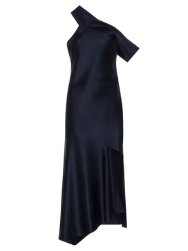 Cushnie - Navy Off-the-shoulder Slip Dress - Women