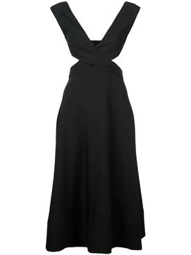 Proenza Schouler - Crepe Cutout Dress Black - Women