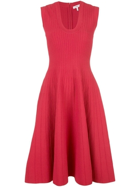 KNIT SLEEVELESS dress RED