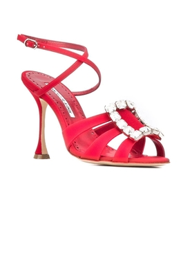 Red Ticuna Crystal Sandal