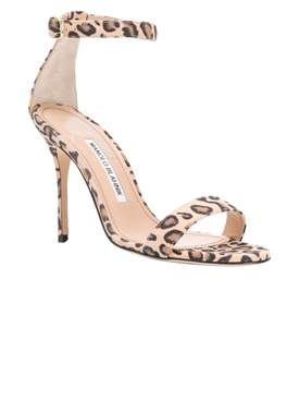 Leopard Print Chaos High Sandal