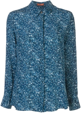 Blue floral chika blouse