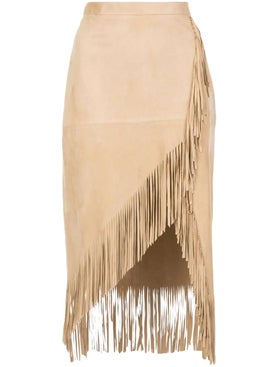 Altuzarra - Fringed Suede Skirt - Women