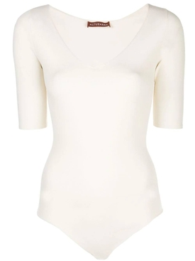 Ivory v-neck bodysuit