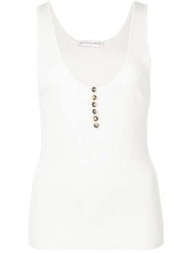 Ribbed tank top white
