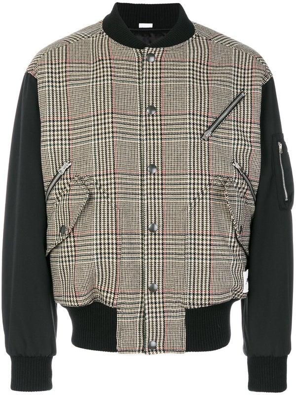 7399257cd two-tone zipped bomber jacket