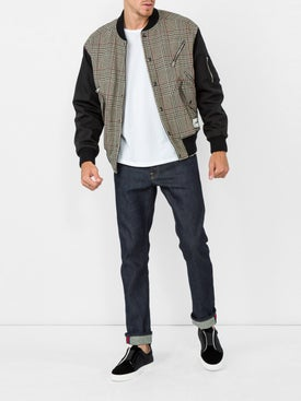Stella Mccartney - Checked Wool-blend Bomber Jacket - Men