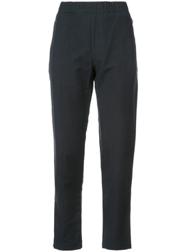 elasticated waist trousers BLACK