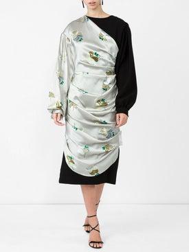 Loewe - Draped Satin Dress - Women