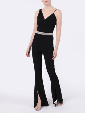 Black Sleeveless Flared Jumpsuit