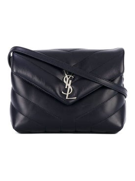 Saint Laurent - Deep Blue Ysl Quilted Crossbody Bag - Crossbody