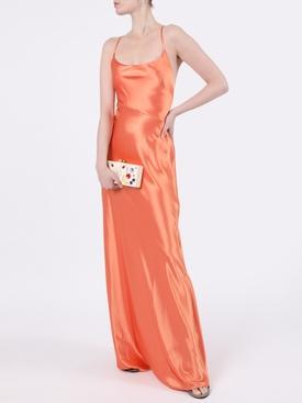Serena satin apricot dress