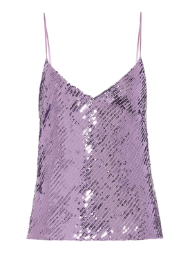 Galvan - Purple Mirrored Sequin Camisole - Women