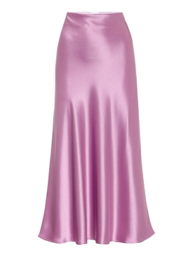 Galvan - Purple Satin Valletta Midi Skirt - Women