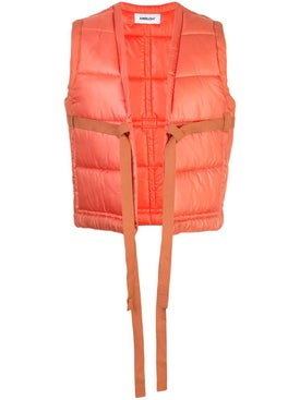 Ambush - Tie-front Padded Gilet Orange - Women