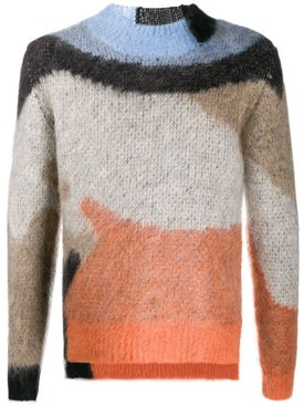 Ambush - Mohair Crew Neck Sweater Orange - Men
