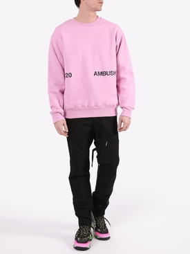 Pink crew-neck sweatshirt