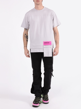 Waist pocket logo t-shirt LIGHT GREY