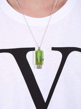 16GB USB Charm Necklace GREEN