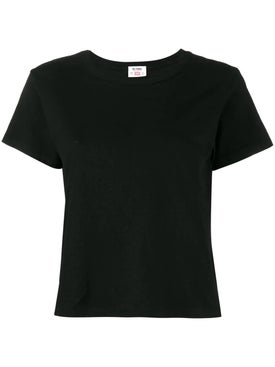 Re/done - Boxy Cotton T-shirt Black - T-shirts