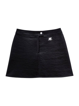 Reedition Vinyl Mini Skirt Black