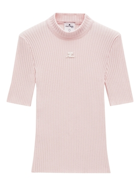 Reedition Short-sleeve Knit Top Pale Pink