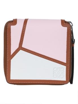 Multicolored Puzzle Square Wallet