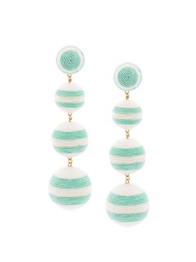 Rebecca De Ravenel - Striped Drop Earrings - Women