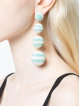 Rebecca De Ravenel - Striped Drop Earrings - Women