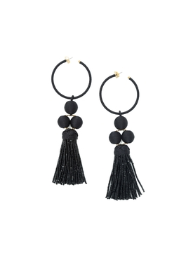 Black cha cha tassel earring