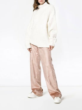 Adam Lippes - Wide Leg Corduroy Trousers Pink - Pants