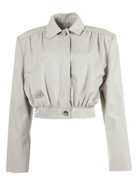 Magda Butrym - Ipswich Cropped Jacket Neutral - Women