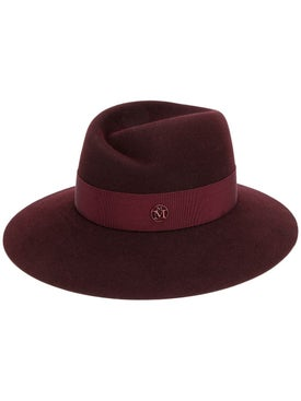 Maison Michel - Deep Red Virginie Fedora Hat - Women