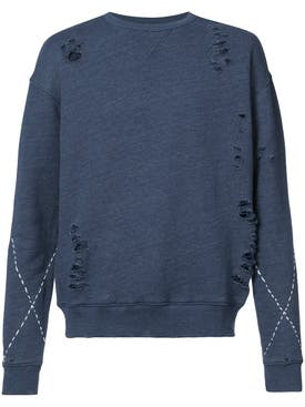 United Rivers - Brazos River Destroyed Sweater - Men