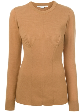 round neck sweater BROWN