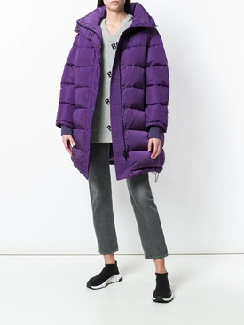 Purple puffer jacket