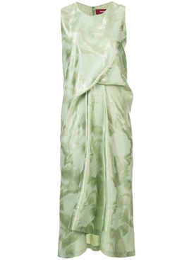 Lottie brushed gathered dress GREEN