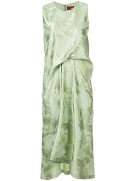 Sies Marjan - Lottie Brushed Gathered Dress Green - Women