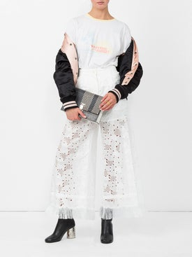 Sacai - Heart Embroidered Trousers - Women