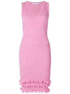 Givenchy - Ruffle Detail Pleated Dress Pink - Women