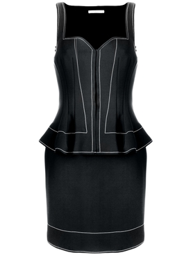 peplum waist fitted dress
