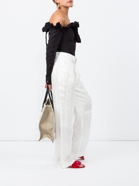 Silk Wide Leg Trousers
