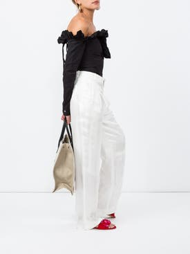 Givenchy - Silk Wide Leg Trousers - Women