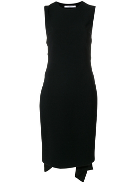 open back tie waist dress