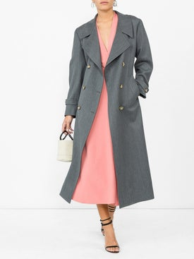 Giuliva Heritage Collection - Christie Wool Trench Grey - Women