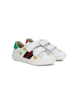 Gucci Kids - Web Bee And Star Embroidered Sneakers - Women