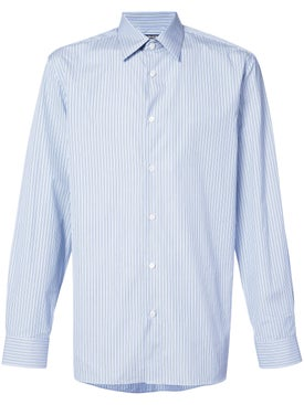 Calvin Klein 205w39nyc - Striped Button Down Shirt Blue - Men