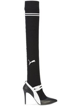 fenty x puma mary jane high heel BLACK & WHITE