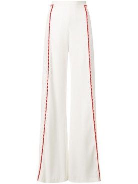 high waisted side stripe trousers