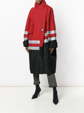 Asymmetric panelled coat